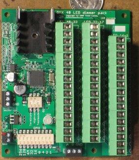 LED DMX control hardware